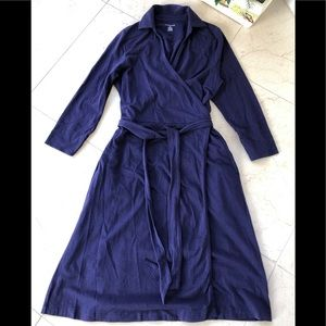 Lands' End Wrap Dress 3/4 Sleeves